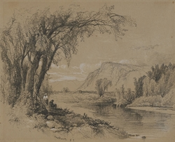 Mountain and River Scene