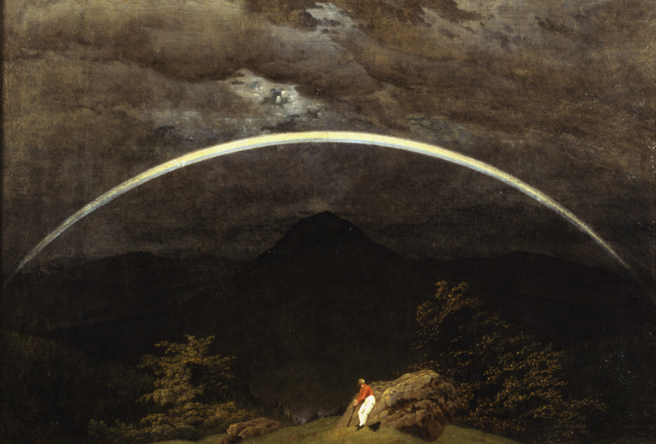 Mountain Landscape with Rainbow