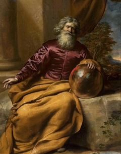 Old man with a sphere.