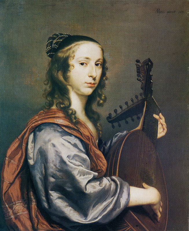 Portrait of a Lady Playing a Lute