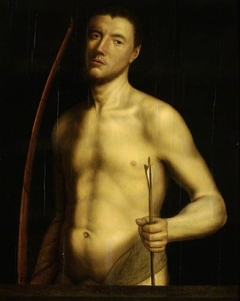 Portrait of a man as St. Sebastian