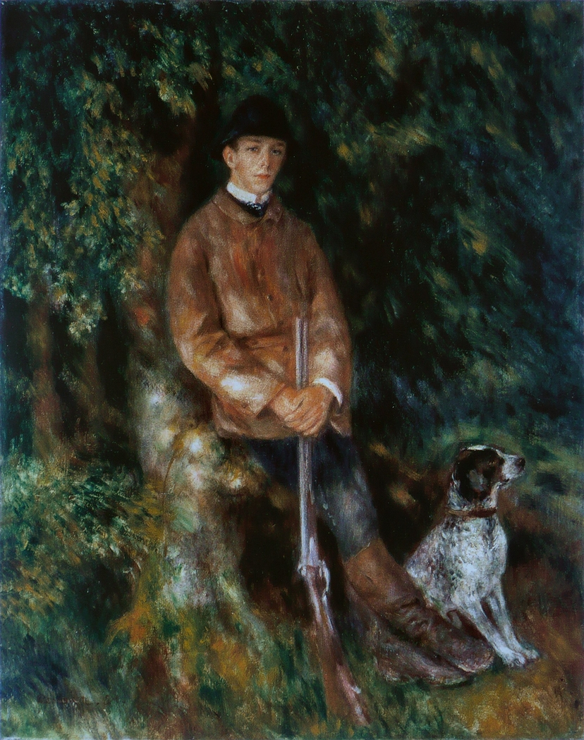Portrait of Alfred Bérard with His Dog