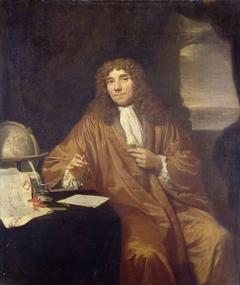 Portrait of Anthonie van Leeuwenhoek, Natural Philosopher and Zoologist in Delft