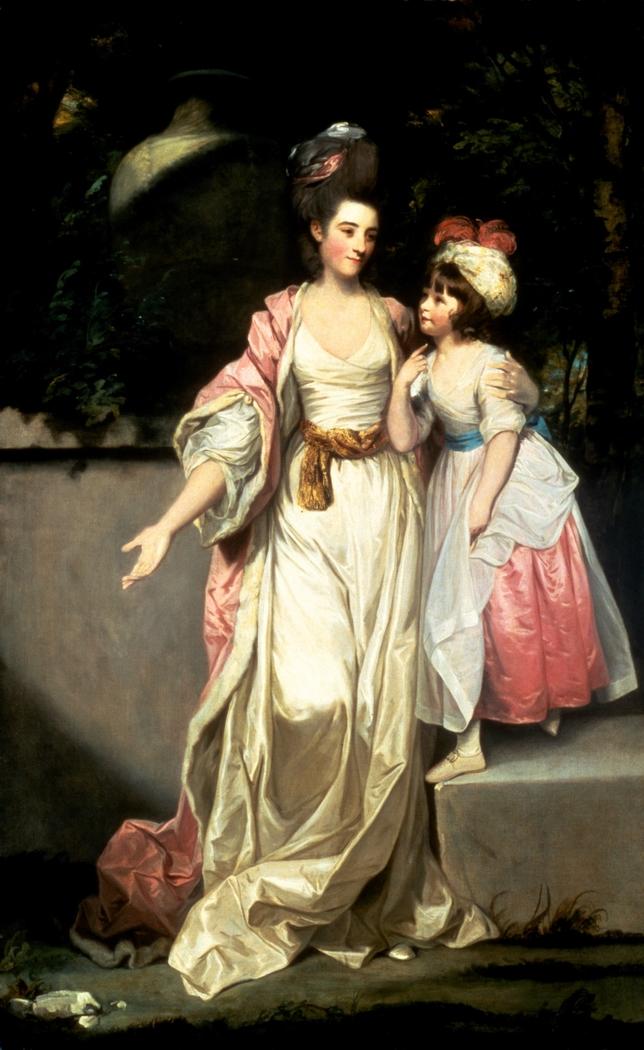 Portrait of Mrs. Jelf Powis and her Daughter