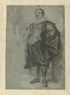 Portret van Nicolaes van der Borght, staand
