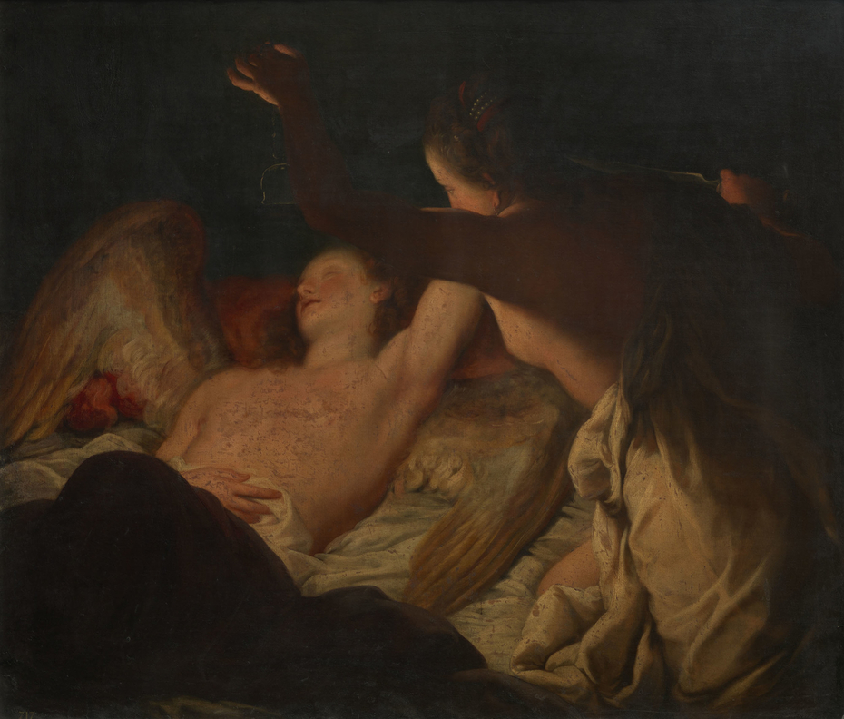 Psyche Discovering the Sleeping Cupid