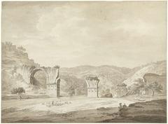 Ruïne van de brug van Augustus te Narni, Italië