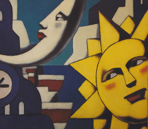 Serie Soles y Lunas. Sol y Luna XII