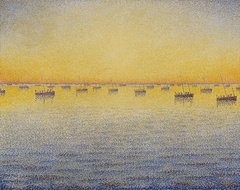 Setting Sun. Sardine Fishing. Adagio. Opus 221 from the series The Sea The Boats Concarneau