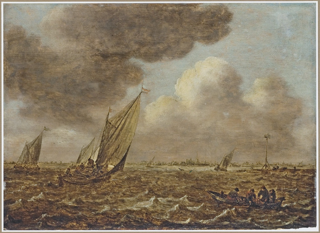 Shipping in stormy weather, 1650 or later