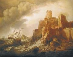 Shipwreck at Rocky Shore