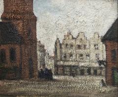 Stadsplein naast de kerk