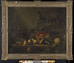 Still Life with Watermelon, Pomegranates and Other Fruit and Vegetables