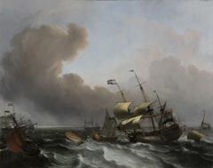 Storm on the Dutch coast