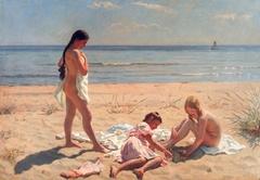 Summer day at the beach of Skagen