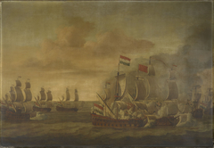 The Action of the Kingfisher with Seven Algerine Ships, 1 June 1681