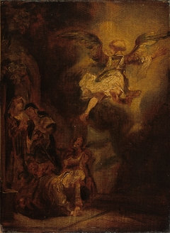 The Angel Leaving Tobias and His Family, after Rembrandt
