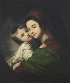 The Artist's Wife, Elizabeth Shewell, Mrs Benjamin West (1741-1814) and their Son Raphael Lamar West (1769-1850)