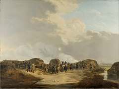 The Demilune constructed at the Siege of Naarden, April 1814