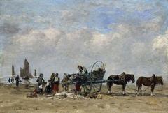 The fish-cart, Berck