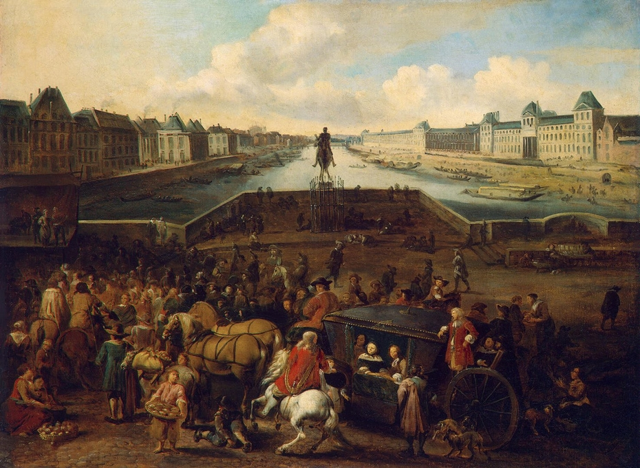 The Louvre from the Pont-Neuf, around 1666