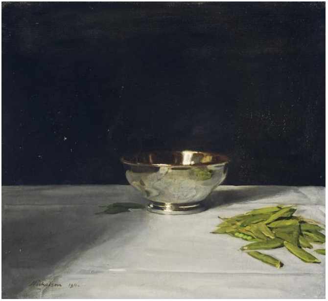 The Lustre Bowl with Green Peas