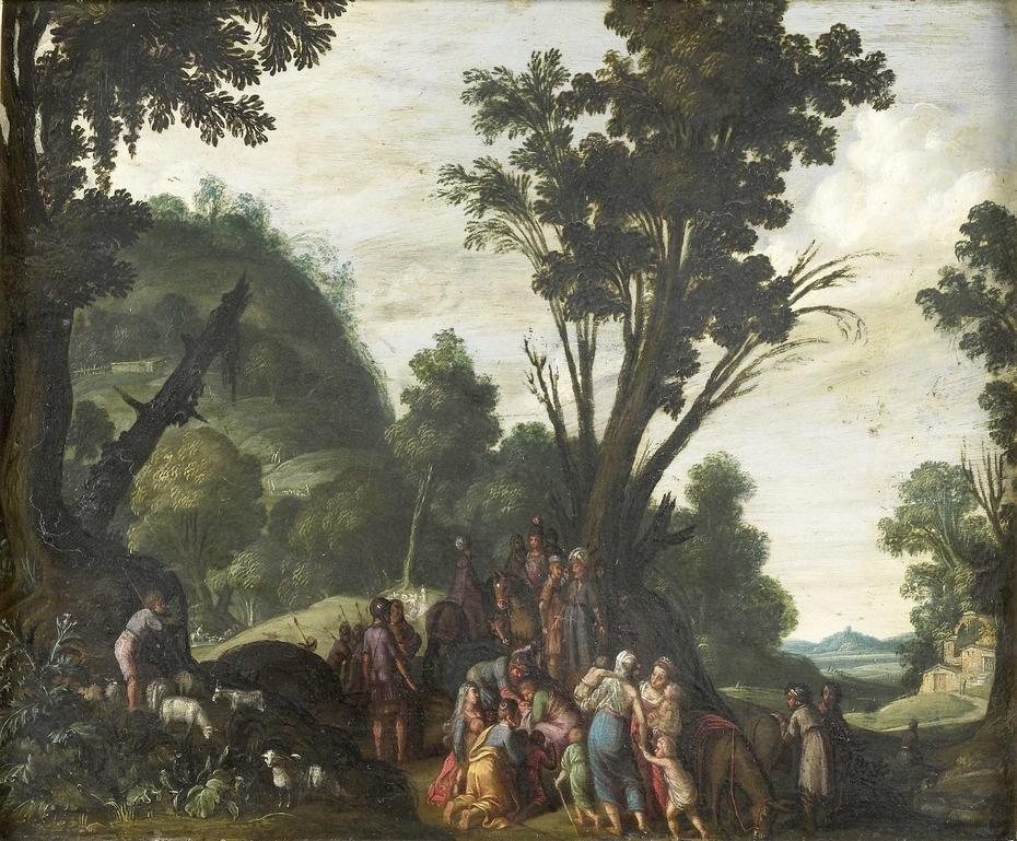 The meeting of Jacob and Esau