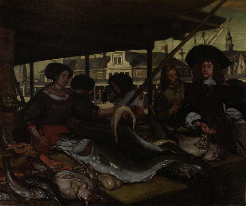 The Nieuwe Vismarkt (New Fish Market) in Amsterdam