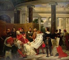 The Pope Iulius II orders the works of Vatican and Saint-Peter basilica