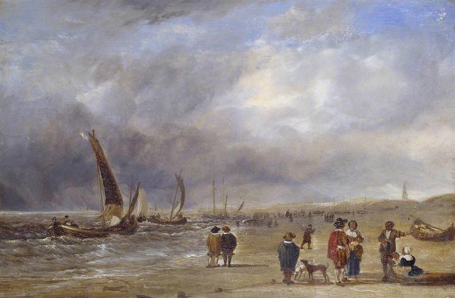 The Shore at Scheveningen (after Willem van de Velde)