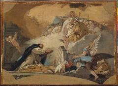 The Virgin Receiving the Prayers of Saint Dominic