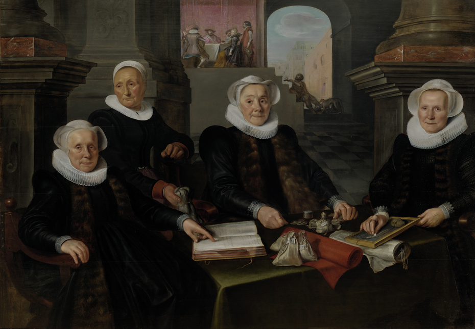 Three Regentesses and the 'House Mother' of the Amsterdam Lepers' Asylum