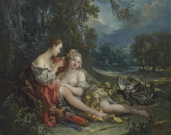 Two Nymphs of Diana resting after their Return from the Hunt