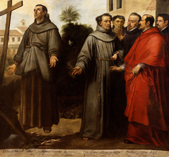 Saint Diego of Alcalá before the cross