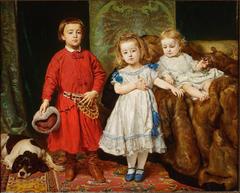Portret trojga dzieci artysty: Tadeusza, Heleny i Beaty