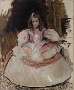 La niña María Figueroa vestida de menina