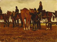 Veldartillerie (paarden en soldaten)