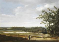 View of the bleaching fields near Haarlem