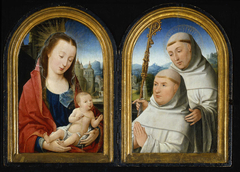 Virgin and Child with Rosary, St. Bernard with Cistercian Monk