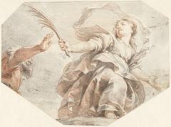 Vrouw met palmtak