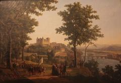 Vue du château de Pau prise du grand parc