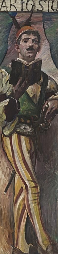 Wandschmuck der Villa Katzenellenbogen (Ariosto). Gemäldezyklus von insgesamt 11 Bildern
