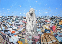 'Waste Dump', (2008), oil on linen, 140 x 100 cm.