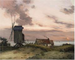 Windmill on a Beach