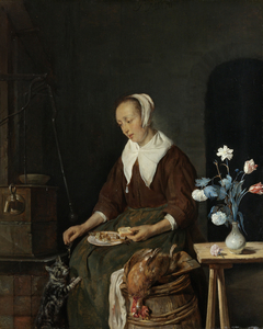 Woman Eating, Known as 'The Cat's Breakfast'