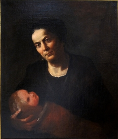 Woman holds a Child