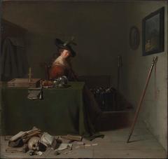 Woman Seated at a Table (Vanitas)