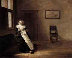 Woman Tearing a Letter