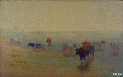 Zomermorgen aan de Rijn bij Rhenen