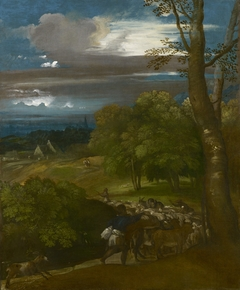 A Landscape with Shepherds and Flocks